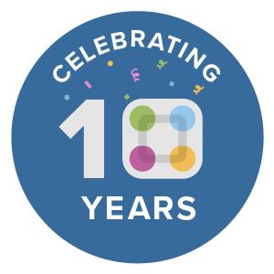 Celebrating 10 Years Badge